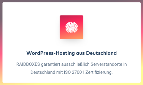 Raidboxes WordPress Hosting