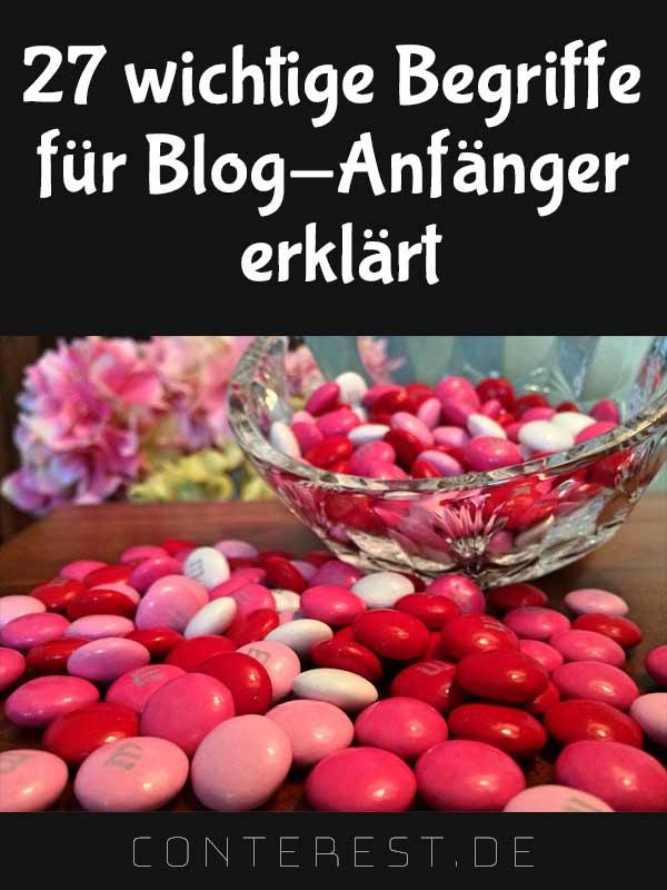 27 wichtige Begriffe für Blog-Anfänger erklärt