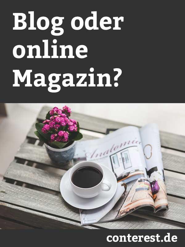 Was ist der Unterschied zwischen einem Blog und einem online Magazin?