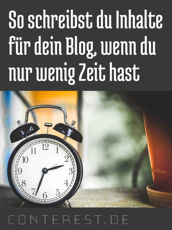 Bloginhalte auf die Schnelle