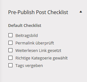 checklist plugin