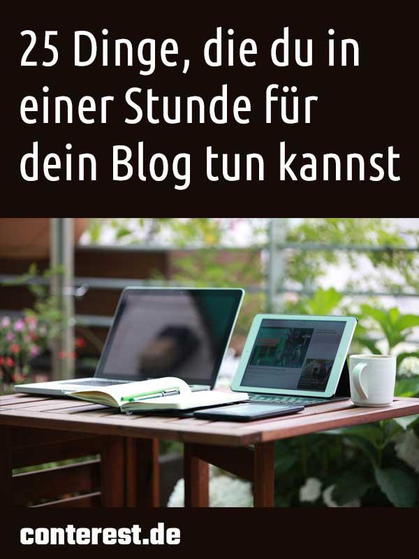 25 Dinge, die du in einer Stunde für dein Blog tun kannst