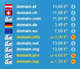 domain bloggen preise