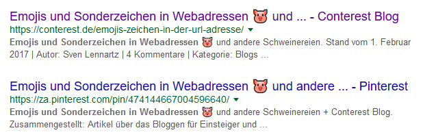 Emojis und Sonderzeichen in Webadressen 🐷 und andere Schweinereien 9