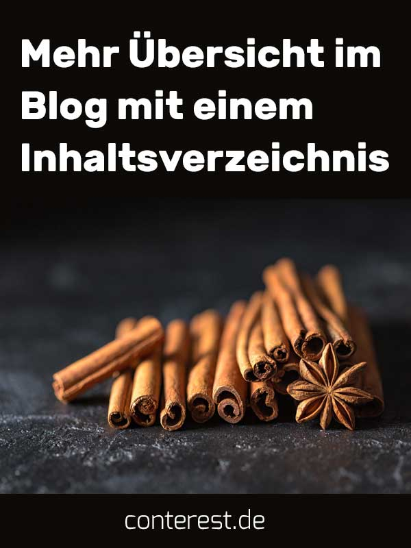 Mehr Übersicht im Blog mit einem Inhaltsverzeichnis
