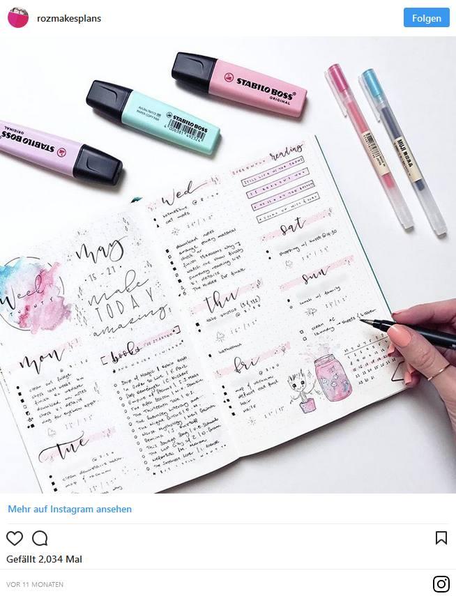 Bullet Journal – Blog und Alltag kreativ organisiert 5