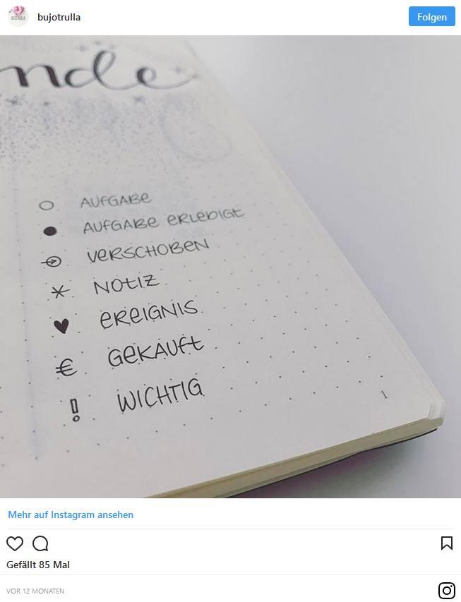 Bullet Journal – Blog und Alltag kreativ organisiert 6