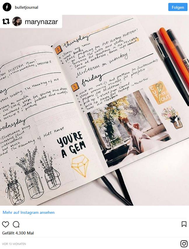 Bullet Journal – Blog und Alltag kreativ organisiert 7