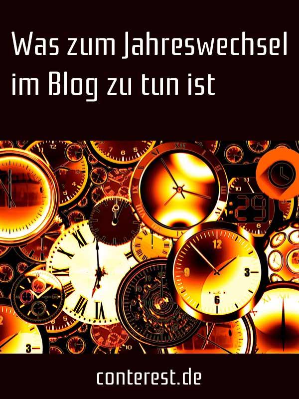 Was zum Jahreswechsel im Blog zu tun ist