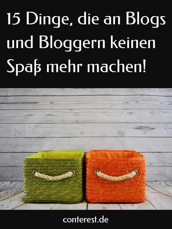 Dinge, die an Blogs und Bloggern keinen Spaß mehr machen
