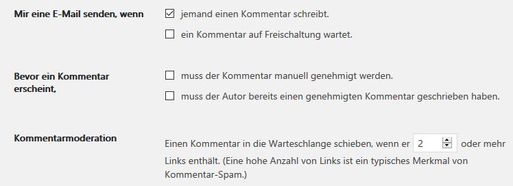 kommentare spam