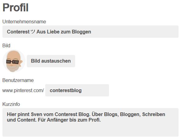 Pinterest Profil