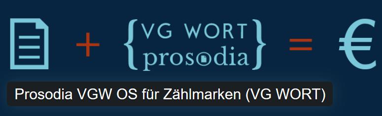 VG Wort Prosodia Plugin