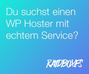 Raidboxes Wordpress Hosting