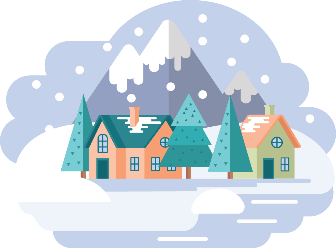 Winter Landschaft Illustration