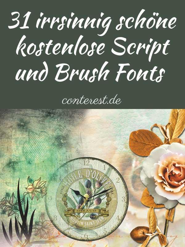 31 irrsinnig schöne, kostenlose Script & Brush Fonts