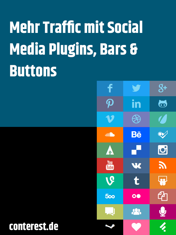 Mehr Traffic mit Social Media Plugins, Bars & Buttons
