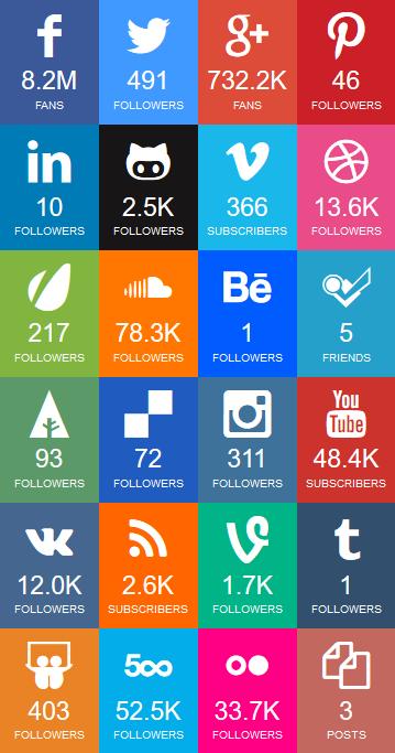 socialfans social media leiste