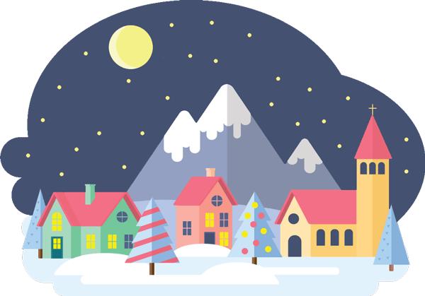 Weihnachten Wörter Illustration