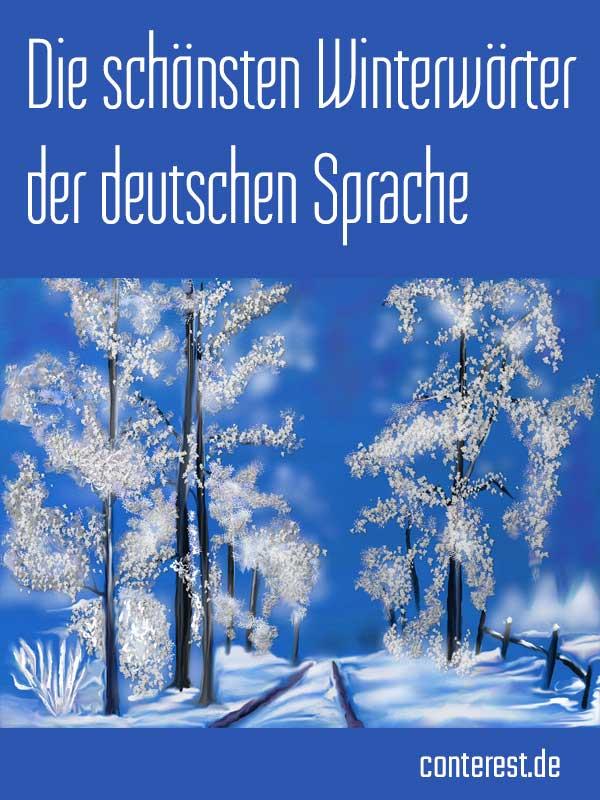 Die schönsten Winterwörter der deutschen Sprache