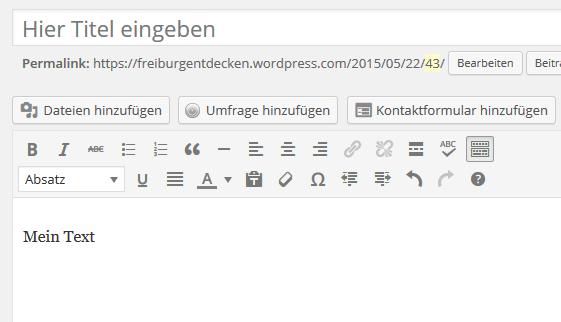 Blog erstellen ist einfach - Der Blog Editor