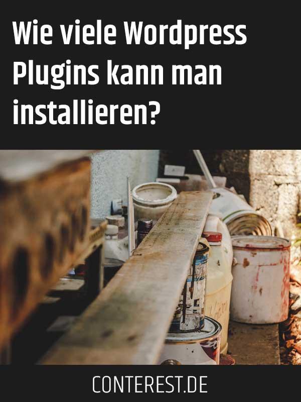 Wie viele WordPress Plugins kann man installieren?