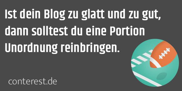 Unperfektes Blogposting